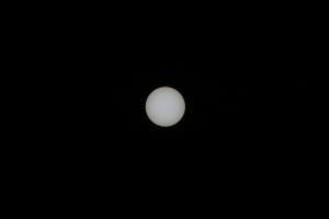 手持ち撮影での太陽(テレコンバータなし)
