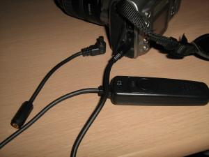 EOS Kiss Digitalに改造ケーブルを取り付け