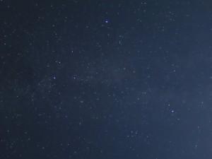 星空夜景モードでの夏の大三角形