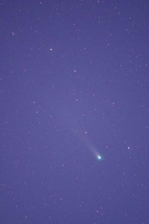 2013年12月6日早朝のラブジョイ彗星かなり背景明るい